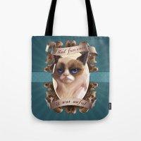 grumpy Tote Bags featuring Grumpy by TsaoShin