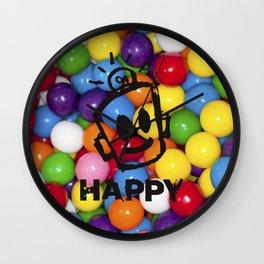 HAPPY GUMBALLS Wall Clock