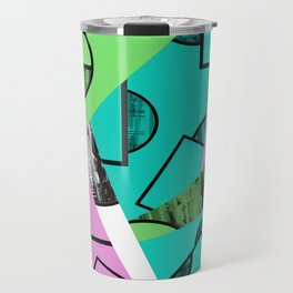 Broken Pieces - Pastel coloured, geometric, textured abstract Travel Mug