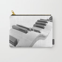 Keyboard of a piano waving on white background - 3D rendering Carry-All Pouch