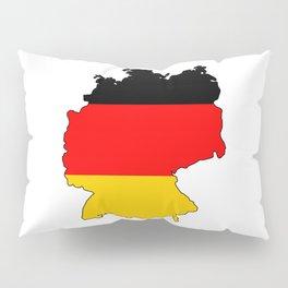 German Flag Map Pillow Sham