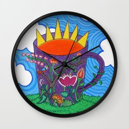 'Tomar el sol' Wall Clock