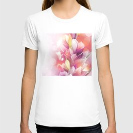 Woman And Flowers By Annie Zeno  T-shirt
