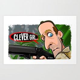 Clever Girl Art Print
