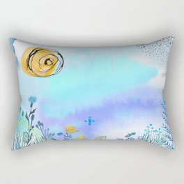 Blue Garden II Rectangular Pillow