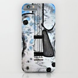 Guitar Art. Abstract Guitar. Rock and Roll. Gibson Guitar. iPhone Case