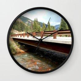 Bridge Over Mineral Creek Wall Clock