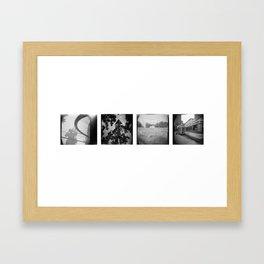 Wheel, Spire, Respect, Diner Framed Art Print
