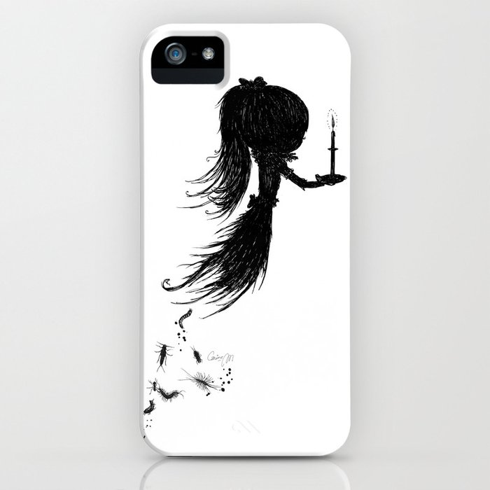 Little Soul and Candle by Carine-M iPhone Case