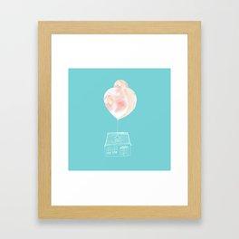 Balloon House Framed Art Print