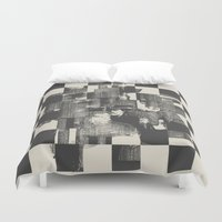 grand theft auto Duvet Covers featuring Identity Theft by Heinz Aimer