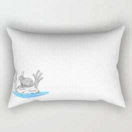 Rabbit in an island Rectangular Pillow