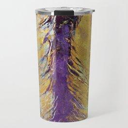 Gold Feathers Travel Mug