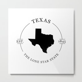 Texas - The Lone Star State Metal Print