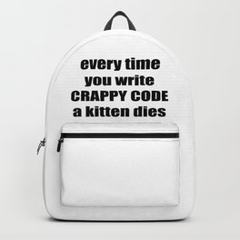 CRAPPY CODE Backpack
