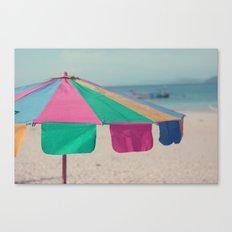 Pastel Umbrella Canvas Print
