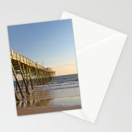 Outer Banks Fishing Pier and Ocean Seascape Stationery Cards