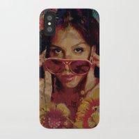 bianca green iPhone & iPod Cases featuring Bianca by Yuri Torres Bertazolli