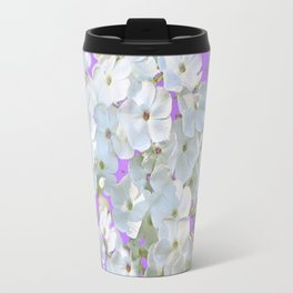 DELICATE LILAC & WHITE LACE FLORAL GARDEN PATTERNS Travel Mug
