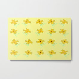 yellow vintage feel Metal Print