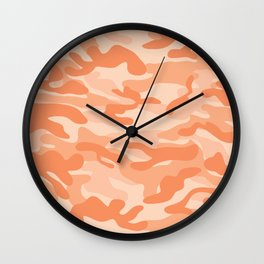 Light Orange Military Camouflage Pattern Wall Clock
