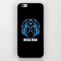 megaman iPhone & iPod Skins featuring MegaMan by Kush Wright