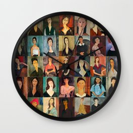 Amadeo Modigliani Montage Wall Clock