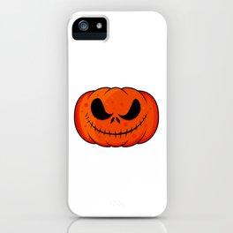 Creepy Pumpkin Grimace iPhone Case