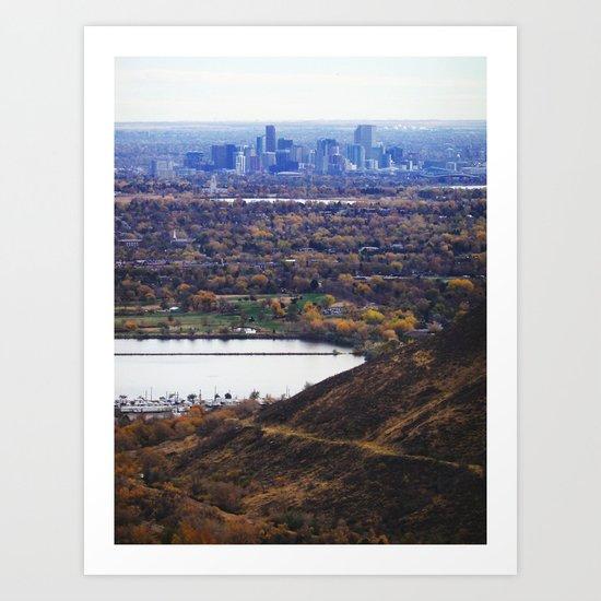 The Foothills of Denver Art Print