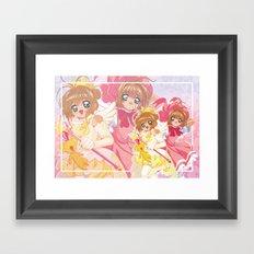 Card Captor Sakura Dots Version Framed Art Print