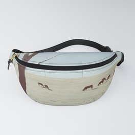 Tree and Cows Fanny Pack