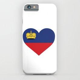 Liechtenstein  love flag heart designs  iPhone Case