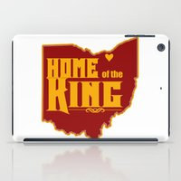 lebron iPad Cases featuring Home of the King (White) by Denise Zavagno