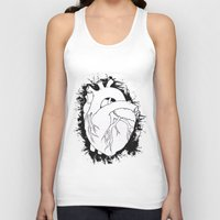 anatomical heart Tank Tops featuring Anatomical Heart by JodiYoung