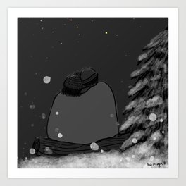 Winter Stargazing Art Print