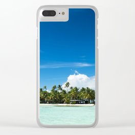 Uninhabited or desert island in the Pacific Clear iPhone Case
