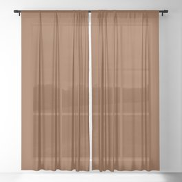 Simply Solid - Russet Brown Sheer Curtain