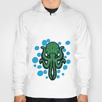cthulhu Hoodies featuring Cthulhu by kelseycadaver