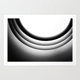 Circular light Art Print