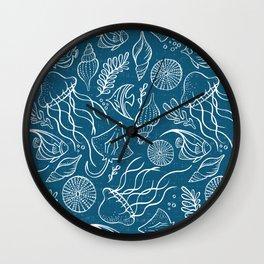 Sea Life - Marine Blue Wall Clock