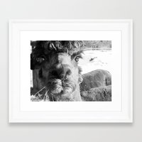alpaca Framed Art Prints featuring Alpaca by WoosterTheRooster