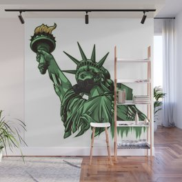 Rotting Statue of Liberty | Anti Government Wall Mural