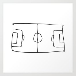 Football in Lines Art Print