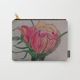 rose, botanical, botanical art, pink, pink rose, Yokohama Carry-All Pouch