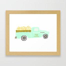 Flower Truck Framed Art Print