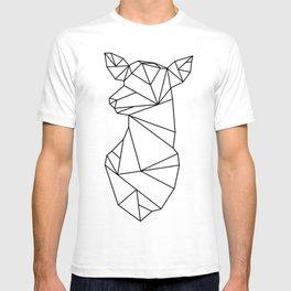 Geometric Doe (Black on White) T-shirt