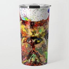 French Bulldog Grunge Travel Mug