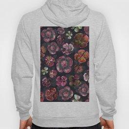 Watercolor Magenta Red Floral Hoody