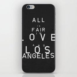 ALL IS FAIR II iPhone Skin