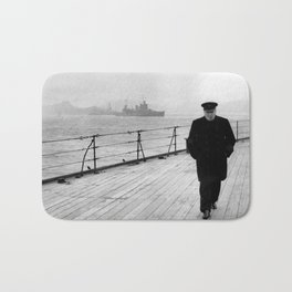 Winston Churchill At Sea Bath Mat